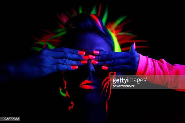 Neon-Licht Porträt