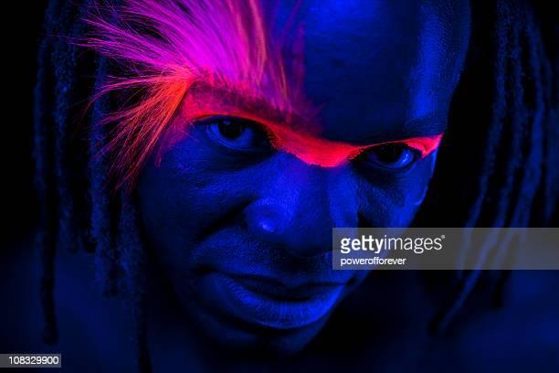 Neon Glow Portrait