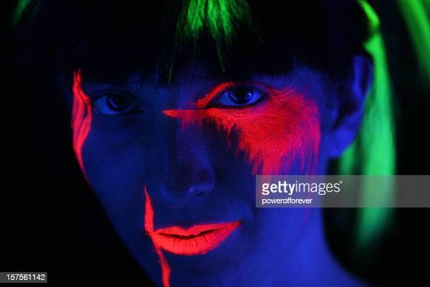 Retrato luminoso de neón