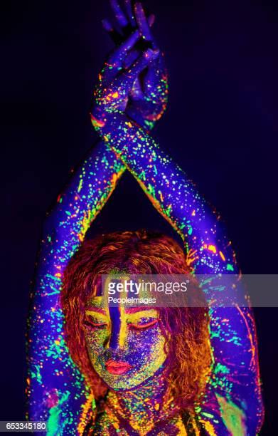 Neon goddess