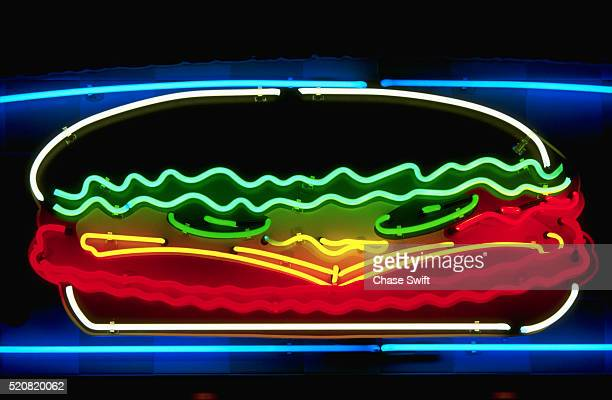 Neon Hamburger Sign