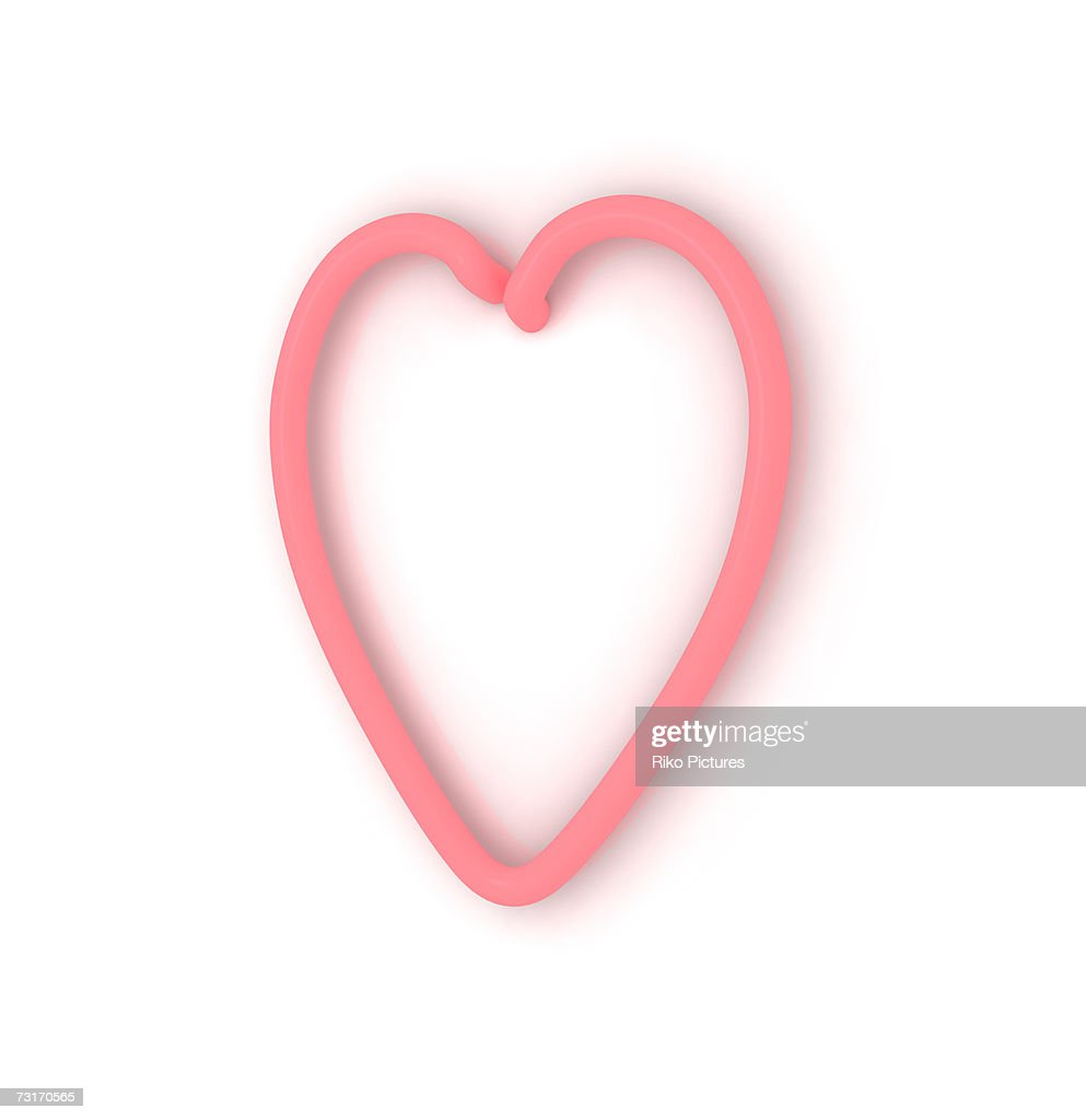 Neon Heart Shape Symbol Closeup Stock Photo Getty Images