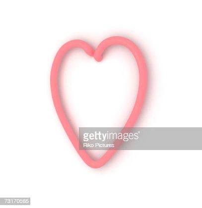 Neon Heart Shape Symbol Closeup Stock Photo Getty Images