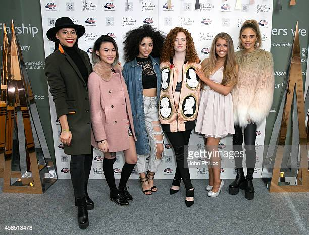 Neon Jungle Jess Glynne Lauren Mae Kidd attend The World Famous Oxford Street Christmas Lights Switch On Event taking place at John Lewis' Flagship...