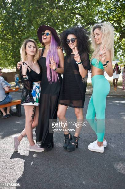 Neon Jungle poses backstage at Wireless Festival at Finsbury Park on July 6, 2014 in London, United Kingdom.