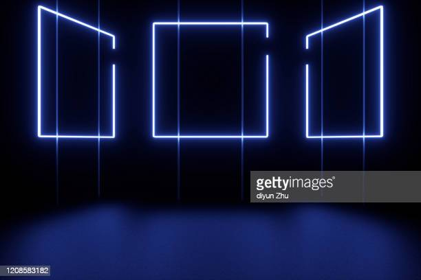 neon light and background,3d render - fluorescent stock pictures, royalty-free photos & images