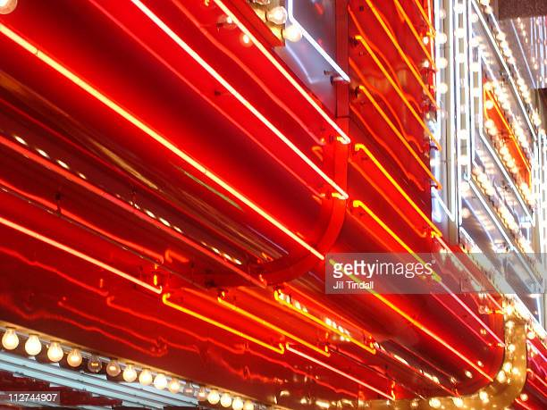 neon lights downtown las vegas - las vegas stock pictures, royalty-free photos & images