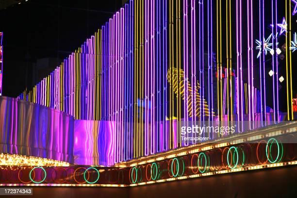 Neon Lights On Exterior Of Casino