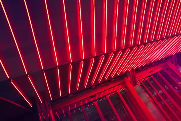 Neon lit entrance
