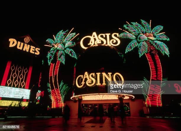 Neon Palms Outside Oasis Casino in Las Vegas