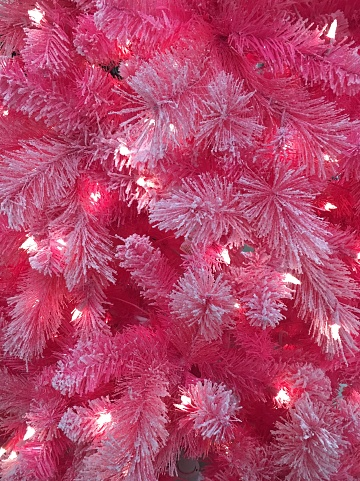 Neon pink colored Christmas tree - gettyimageskorea