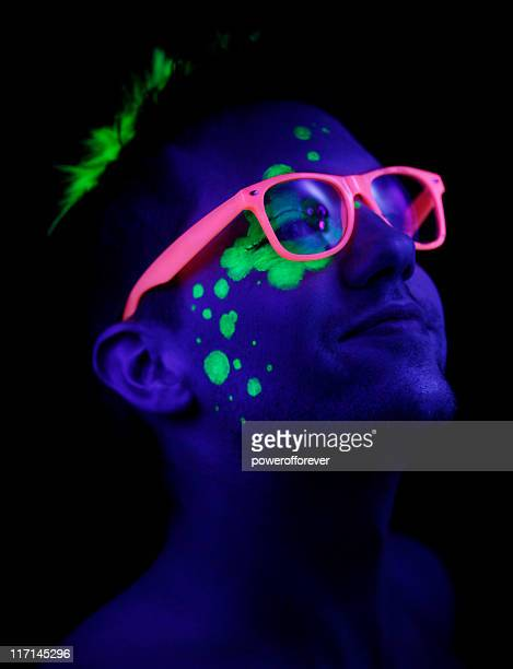 neon pride - fluorescent stock pictures, royalty-free photos & images