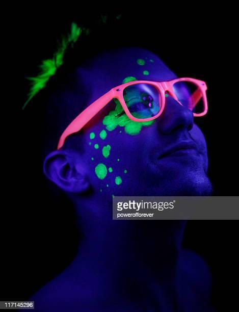 neon pride - fluorescerende stockfoto's en -beelden