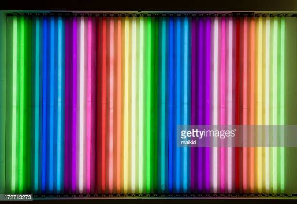 neon rainbow - fluorescent light stock pictures, royalty-free photos & images