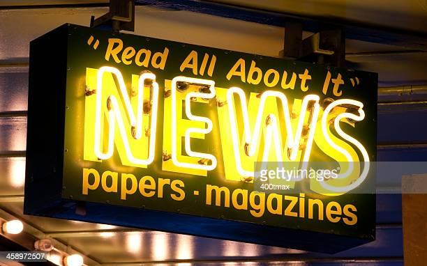 ネオンの内容についてニューススタンドのサイン