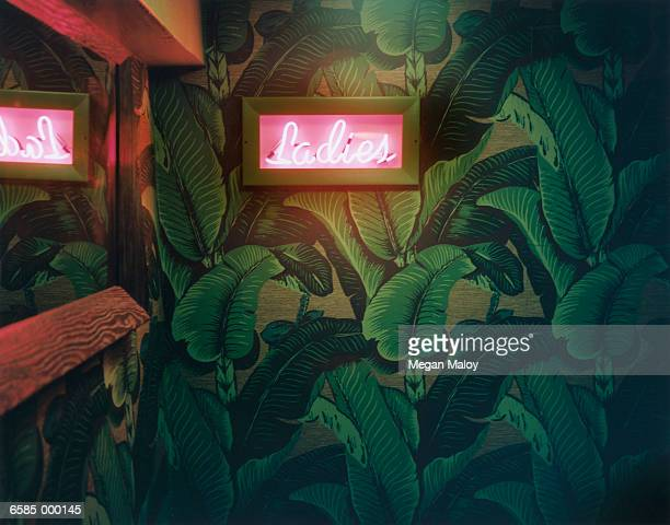 Neon Restroom Sign