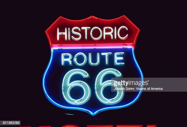 Neon Route 66 Sign