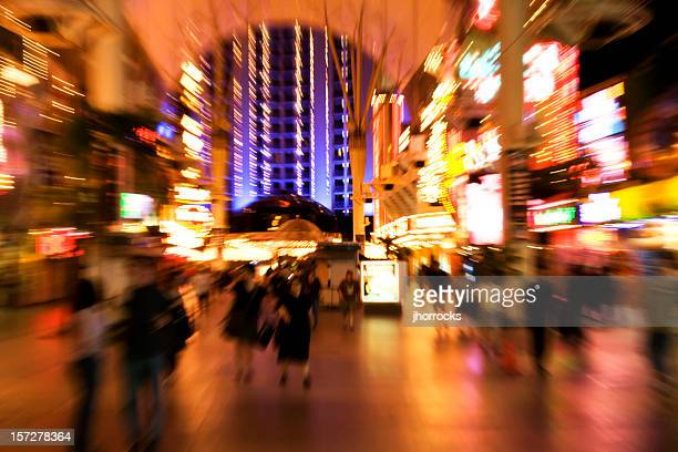 neon rush - fremont street las vegas stock pictures, royalty-free photos & images