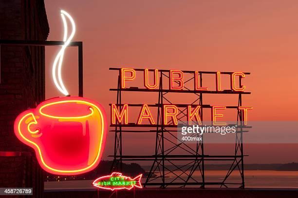 """Neon Seattle """"s Best Coffee"""