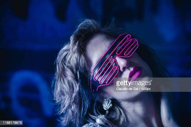 neon shades - soprano singer stock pictures, royalty-free photos & images