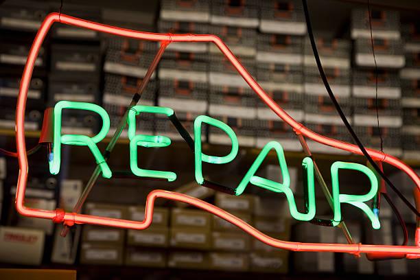 Neon Shoe Repair Sign Wall Art