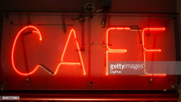 Neon sigh of cafe