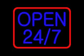 Neon Sign 24h