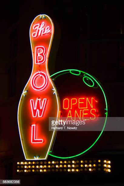 Neon Sign at Bowling Alley