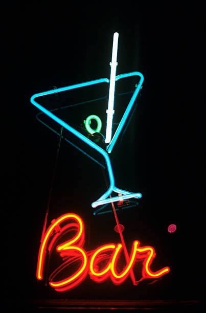 Neon sign for a bar