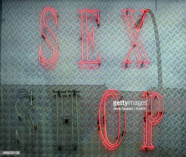 Neon sign for a sex shop