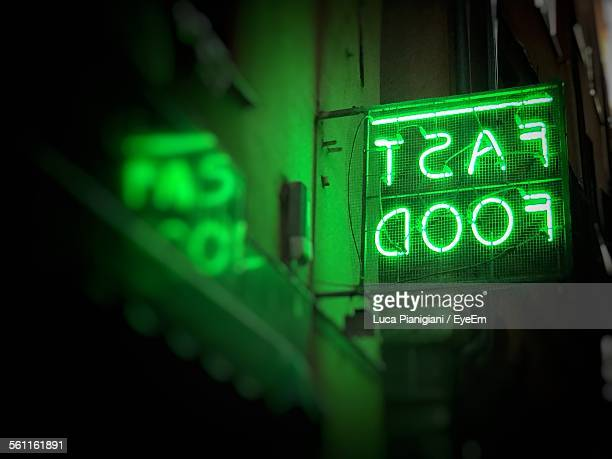 Neon Sign For Fast Food Store