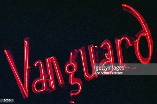 A neon sign glows outside the Village Vanguard jazz club May 24 1998 in New York City The Village Vanguard is one of the oldest and best known jazz...