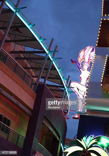 neon sign in vegas - fremont street experience stock pictures, royalty-free photos & images