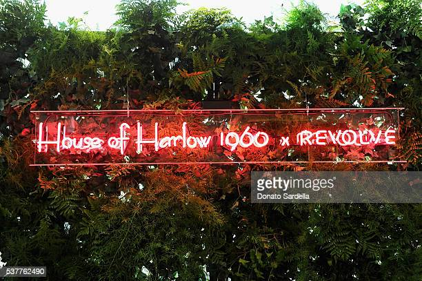 Neon sign on display during House of Harlow 1960 x REVOLVE on June 2, 2016 in Los Angeles, California.