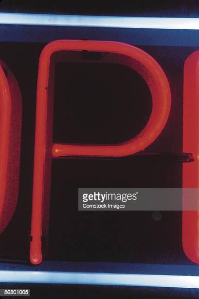 P neon sign
