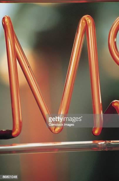 M neon sign