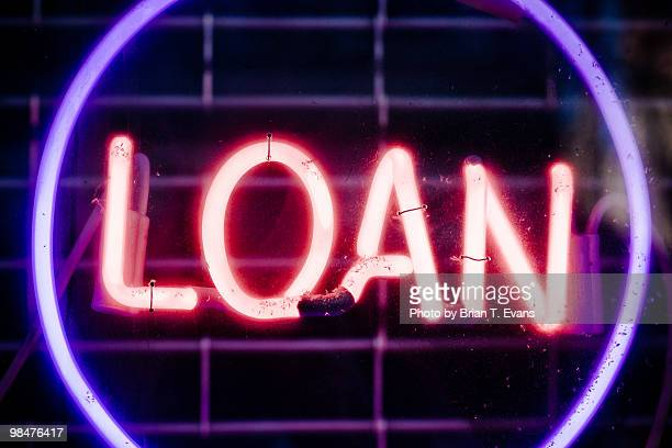 Neon Sign Reading Loan