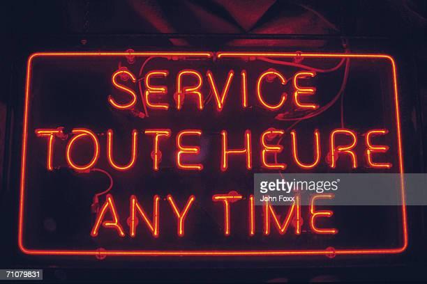 neon sign, service