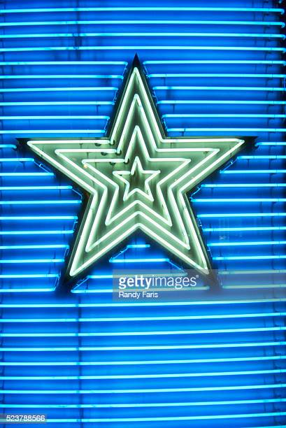 Neon Sign with Star