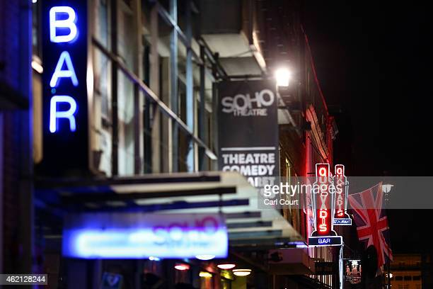 Neon signs are seen in Soho on January 19, 2015 in London, England. A growing number of campaigners, including Stephen Fry, are pushing developers...