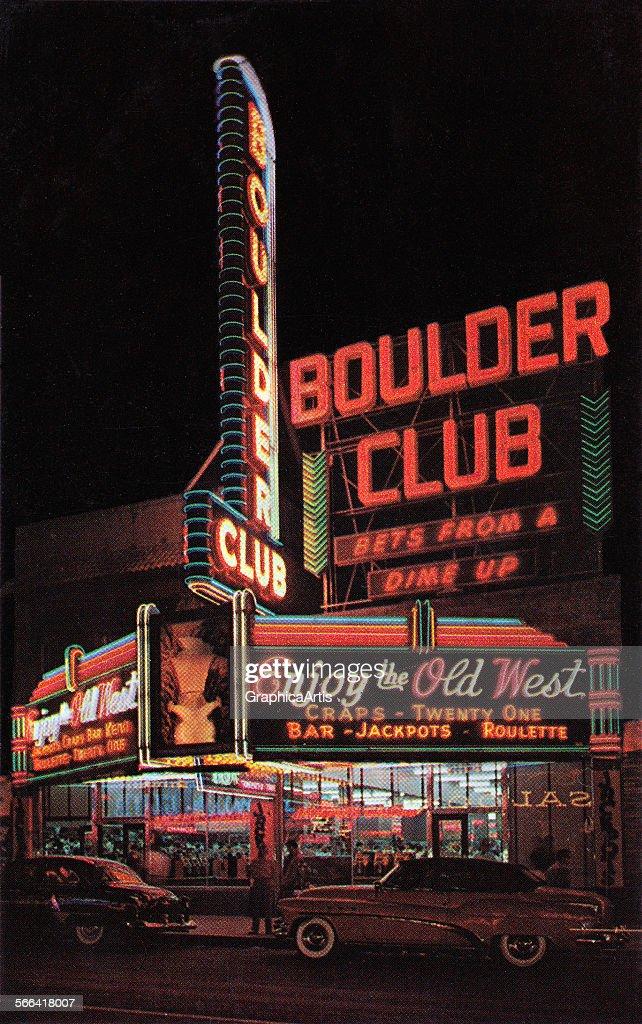 Boulder Club Neon In Las Vegas : News Photo