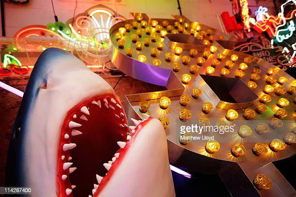 Neon signs of various histories lie in artist Chris Bracey's shed on May 16 2011 in London England He has been making neon signs and artworks for 38...