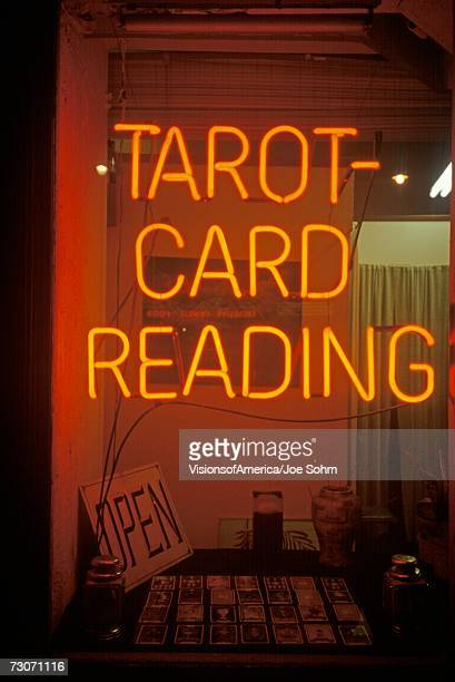 'Neon  Tarot Card Reading sign in Los Angeles, CA'