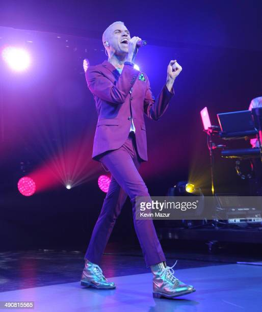 Neon Trees perform onstage at The CW Network's 2014 Upfront at New York City Center on May 15 2014 in New York City