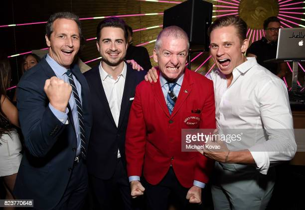 Neon's Tom Quinn director Matt Spicer Neon's Tim League and actor Billy Magnussen attend the after party for the Los Angeles Premiere of INGRID GOES...