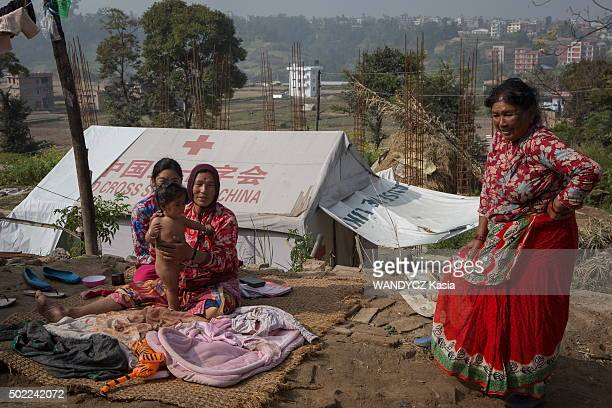 Nepal after the earthquake of April 2015 a difficult reconstruction on November 2015 the village of Lalipur on November 16 2015