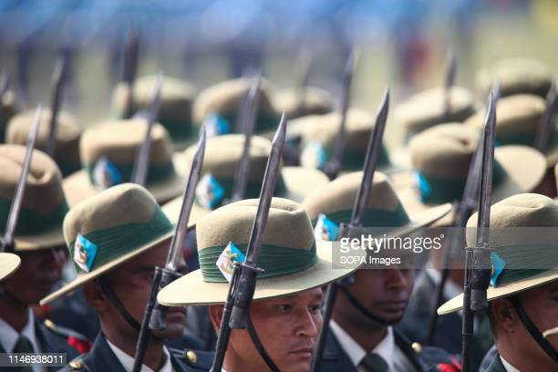 Nepal Army soldiers are seen marching during the Republic Day celebrations Nepal's Constituent Assembly declared Nepal a republic on May 29 ending...