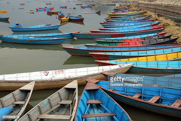 Nepal: Boats on Lake Phewa