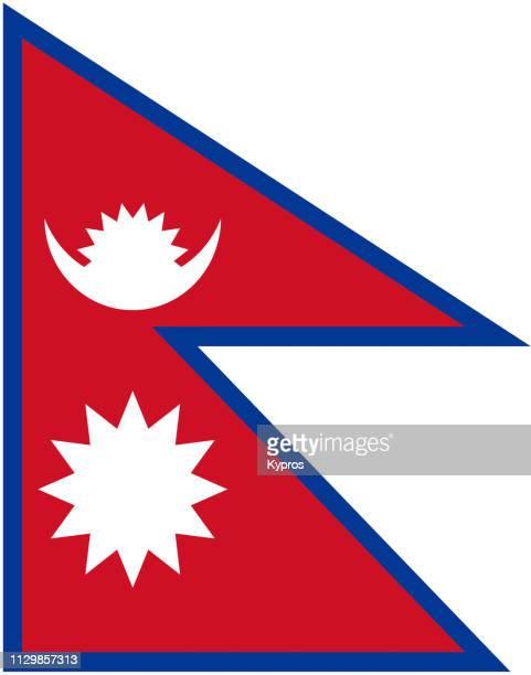 nepal flag - nepal imagens e fotografias de stock