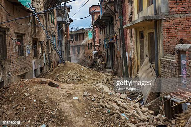 nepal, kathmandu, khokana village - earthquake stock pictures, royalty-free photos & images